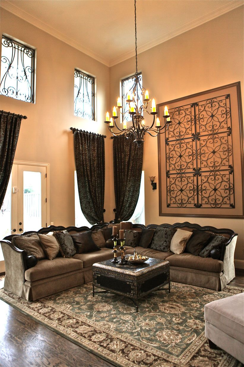 Inspiring living room decorating ideas livingroom livingroomideas tall wall decor wrought