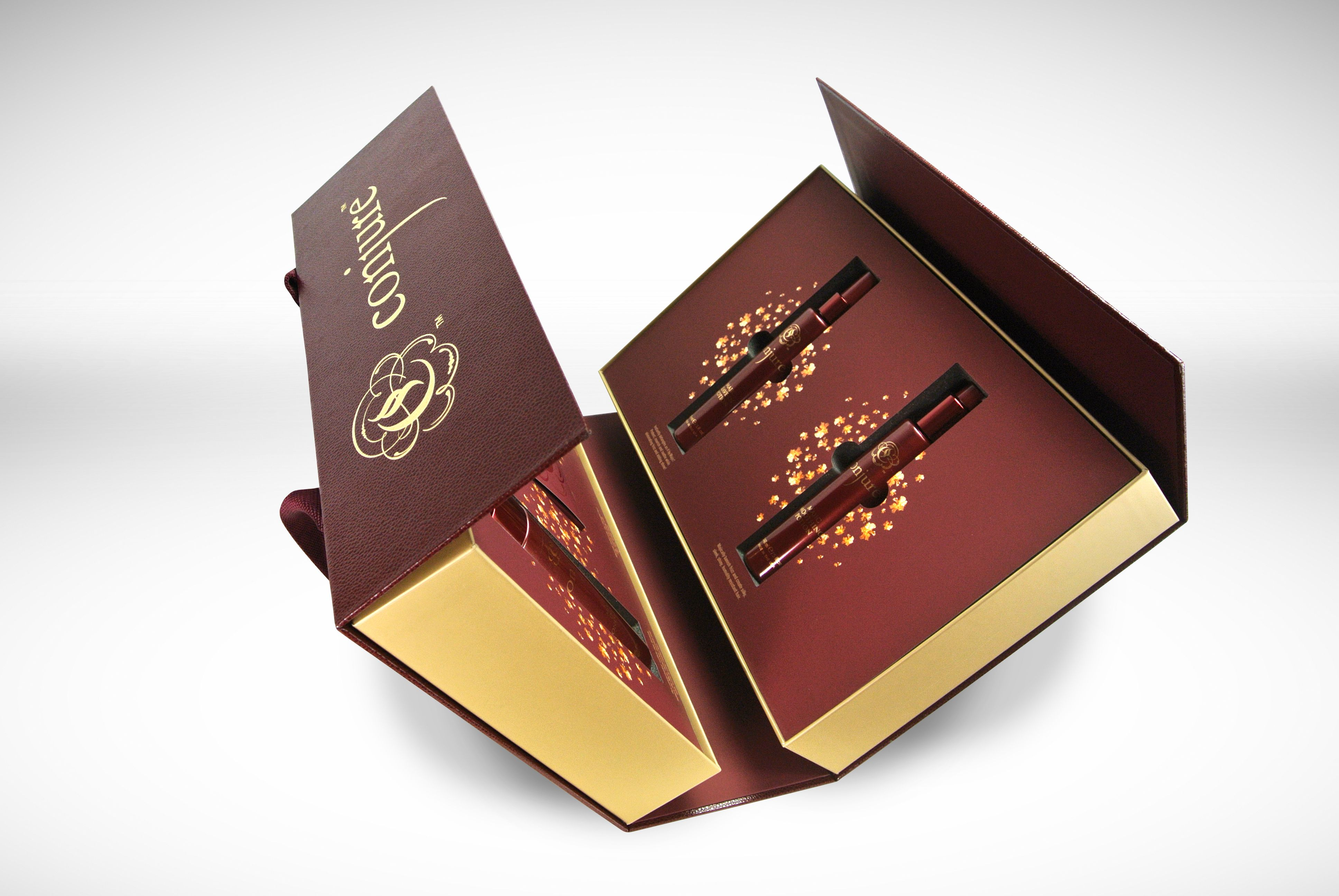 The Conjure Sales Kit Is One Of A Kind Burgundy Material And Gold Foil Demand Attention Inside Custom Foam Inserts And Matte Lami Sales Kit The Conjuring Box