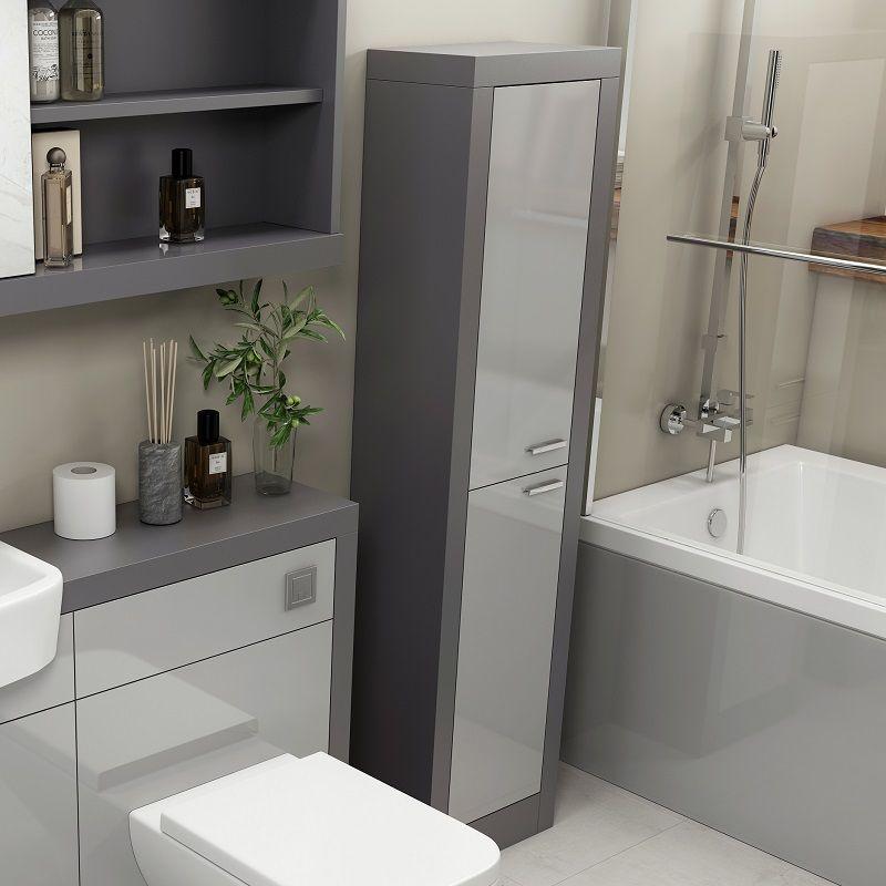 Best Grove Tallboy Platinum Grey In 2020 Bathroom Tallboy 400 x 300