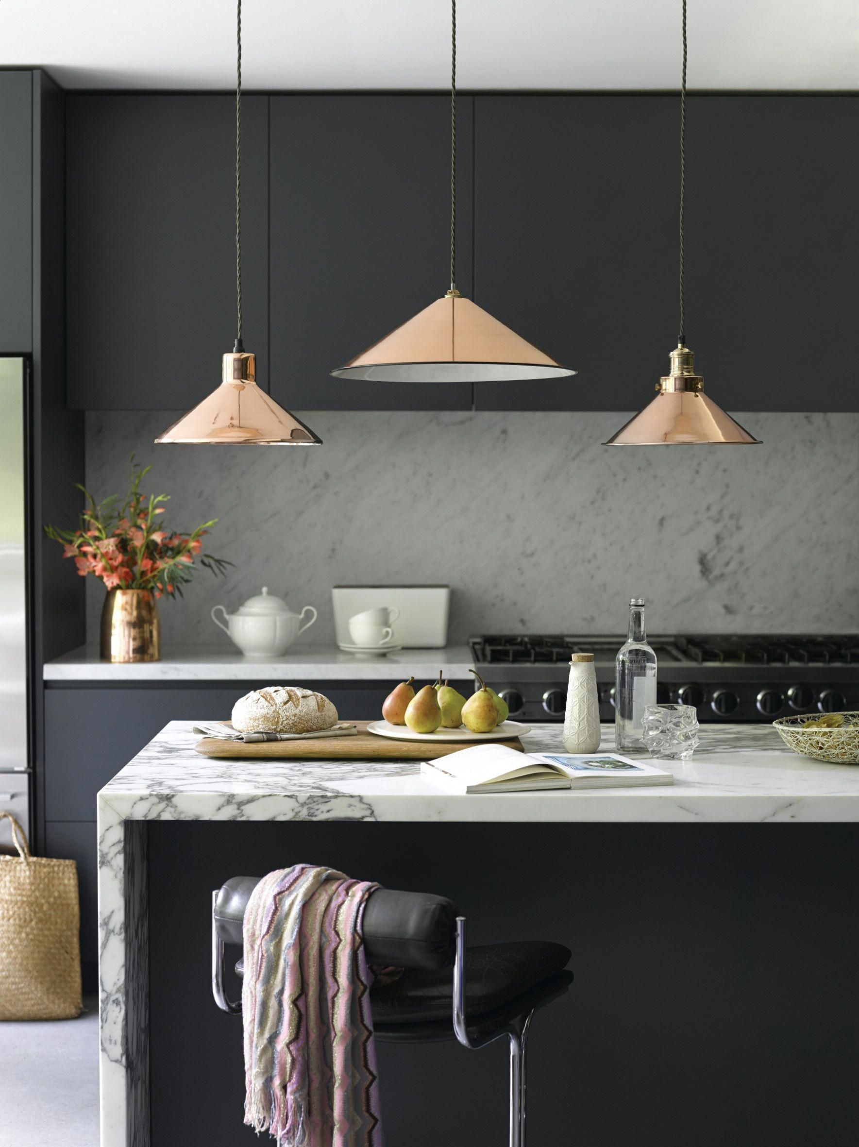 Copper Pendant Lights From Pooky Smallkitchen Black Kitchens Kitchen Lighting Over Table Interior Design Kitchen