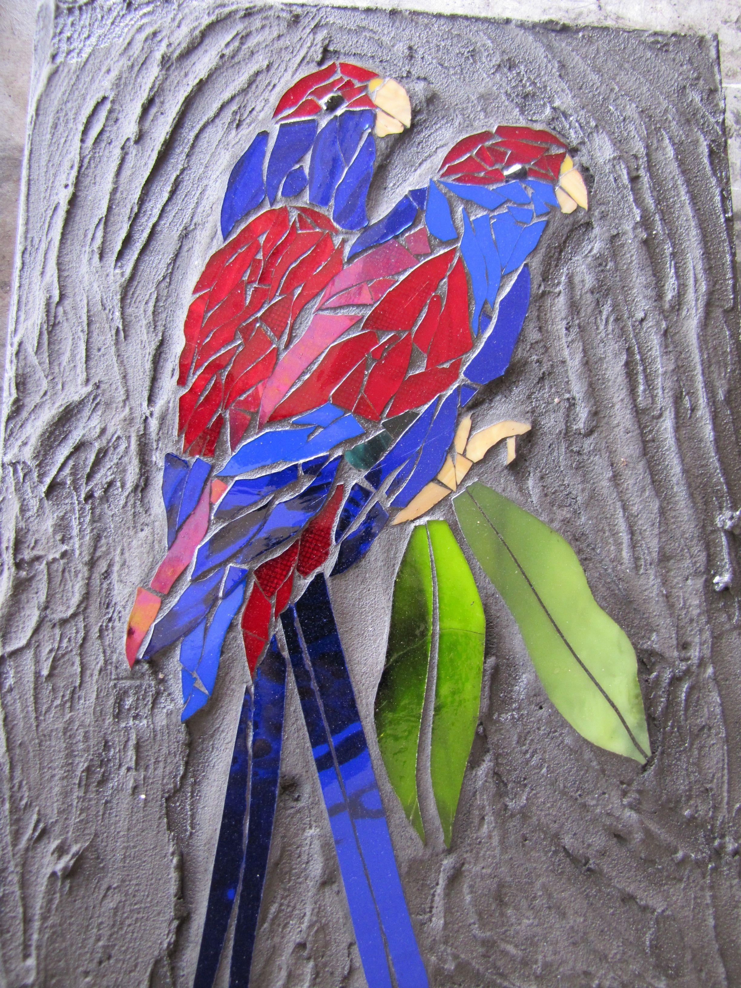 a parrot mosaic by kat gottke Mosaic animals, Mosaic