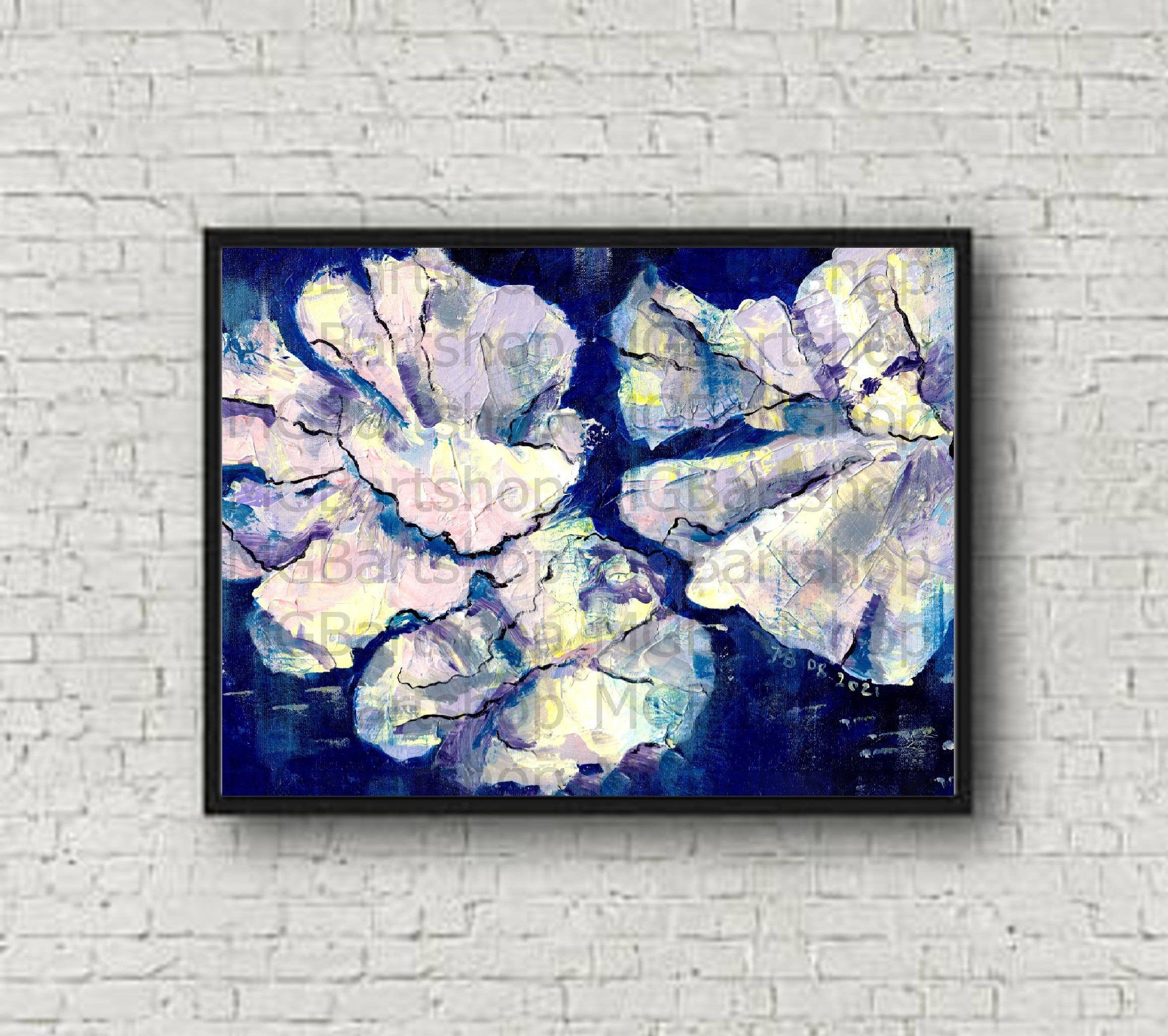 Digital abstract art Moonlight Instant Digital Download Digital ...