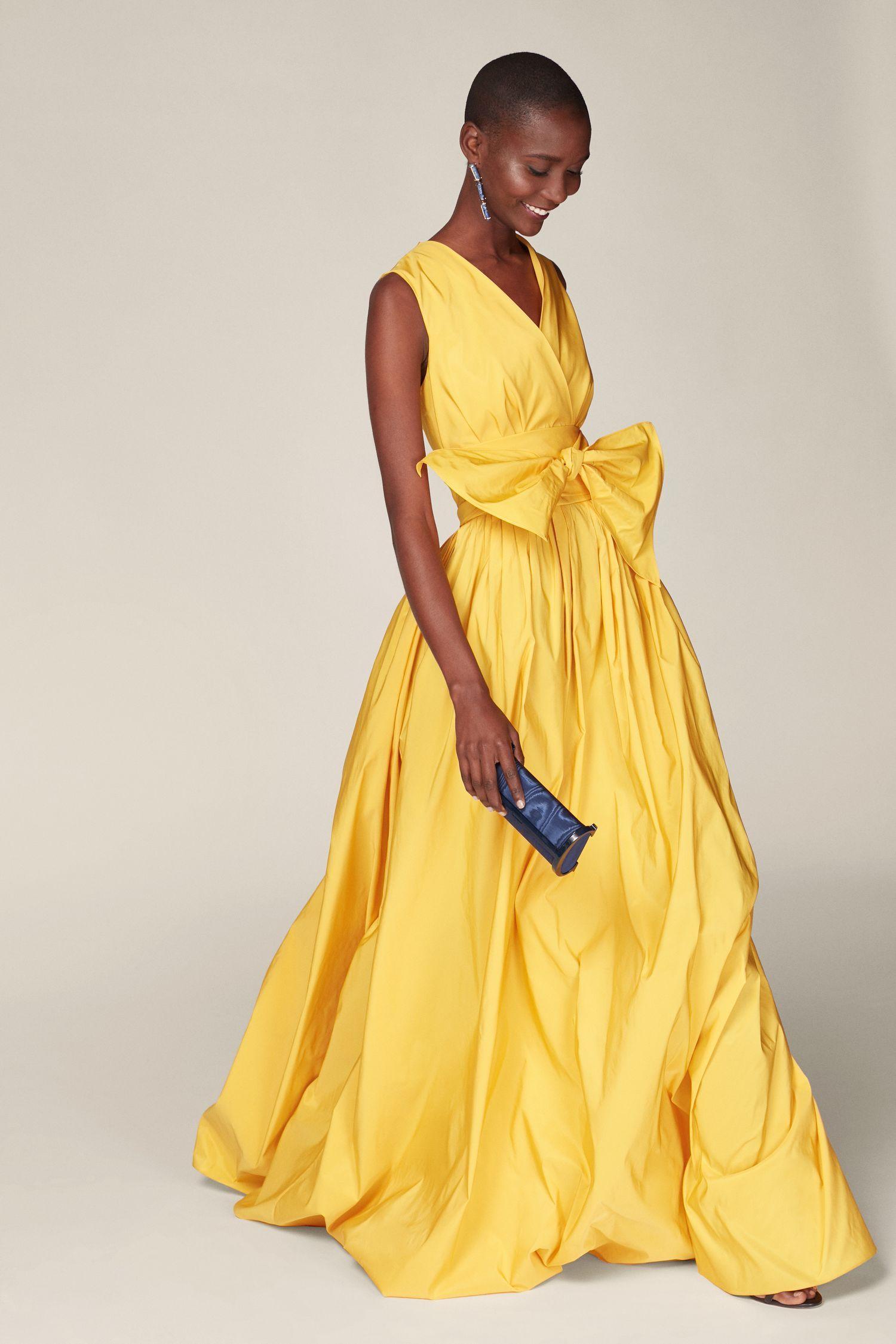 ff146f427d0402 Vestido de tafeta con lazo AMARILLO - Nueva Colección de Mujer | Nueva  Colección de Mujer