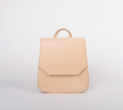 Vegetable tanned simple classic genuine leather backpack