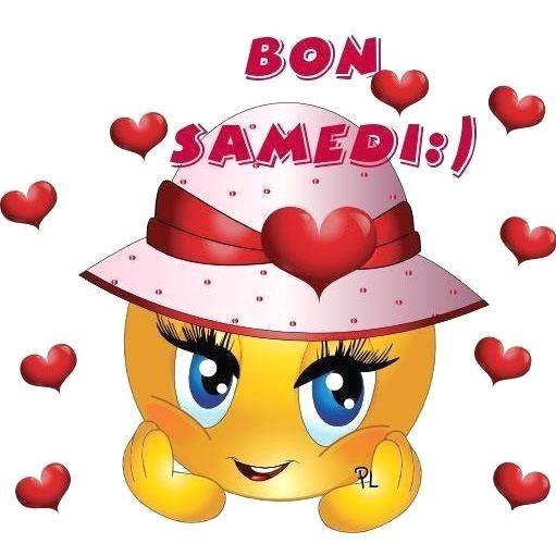 Bon Samedi Bonsamedi Coeurs Sourire Smiley Bon Samedi Emoticone Gratuit Emoticone Smiley