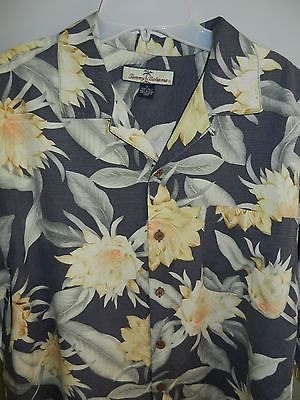 Tommy Bahama Size M 100 Silk Shirt Excellent Cond Free USA Shipping   eBay