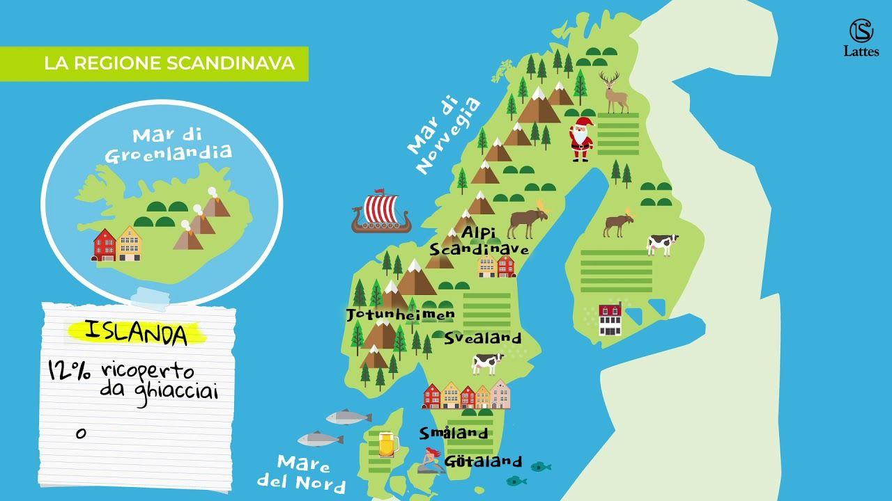 Cartina Norvegia Da Stampare.La Regione Scandinava Scandinavo Geografia Scandinavia