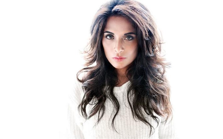 Lataa kuva Tricha Chadha, 4K, Intialainen näyttelijä, Bollywood, Intian muoti malli, muotokuva, kauniit silmät, ruskeaverikkö