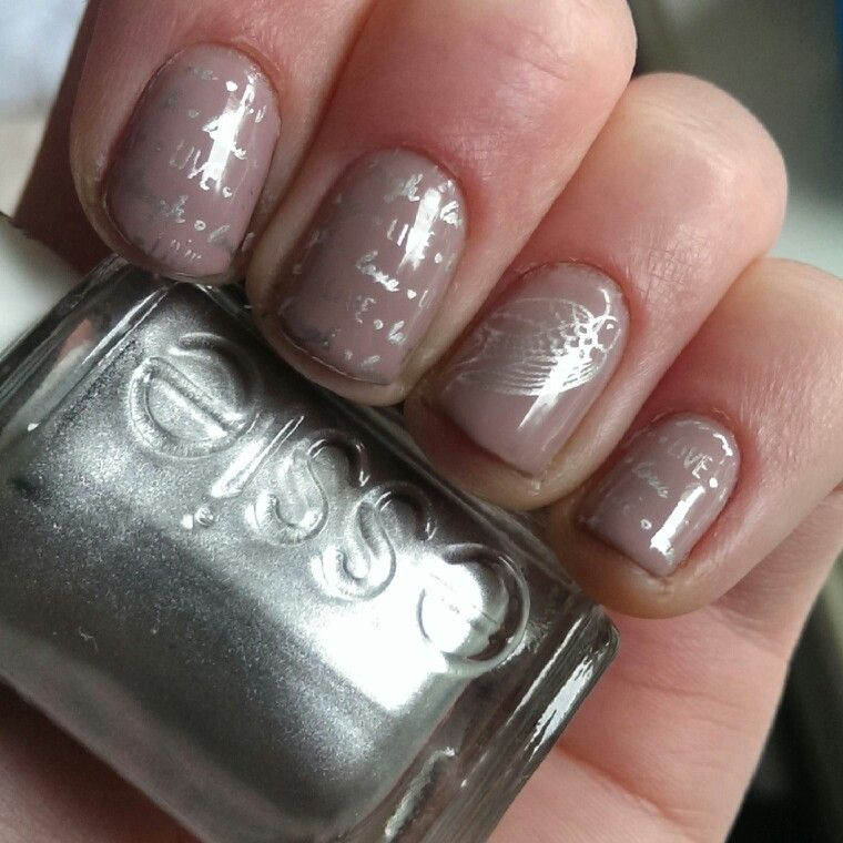 Essie Ladylike Stamped With Essie No Place Like Chrome