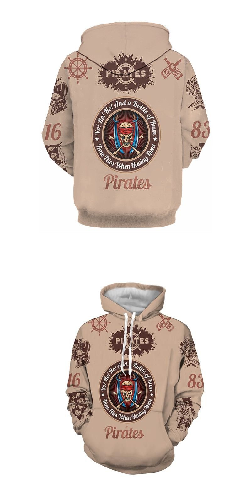 2d0debc070ad Movie Pirates Skull 3D Printed Hoodies Mens Women Unisex Fashion Casual  Cotton fleece hooded Sweatshirt Coats