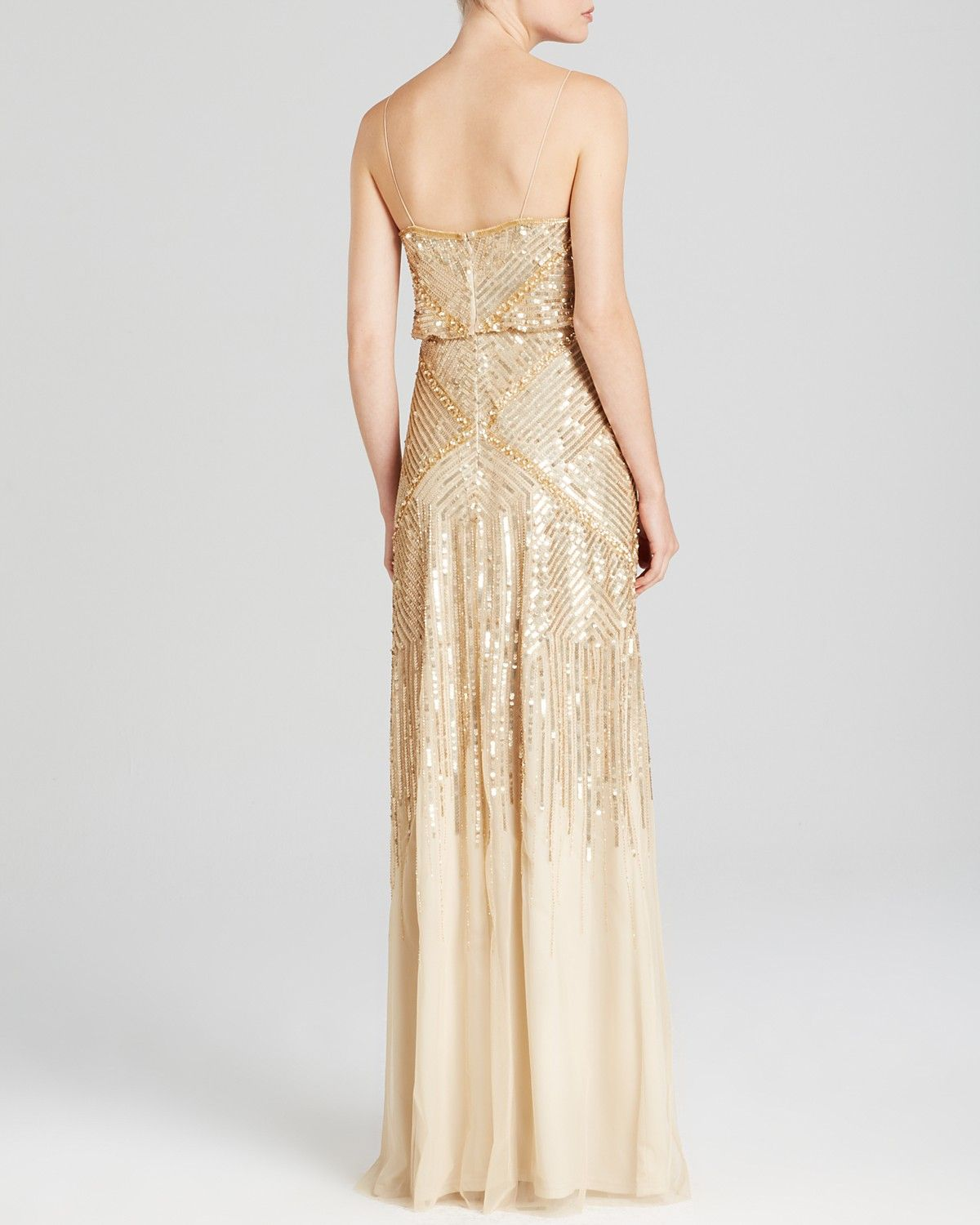 Adrianna Papell Sleeveless Beaded Blouson Gown - Bloomingdale\'s ...