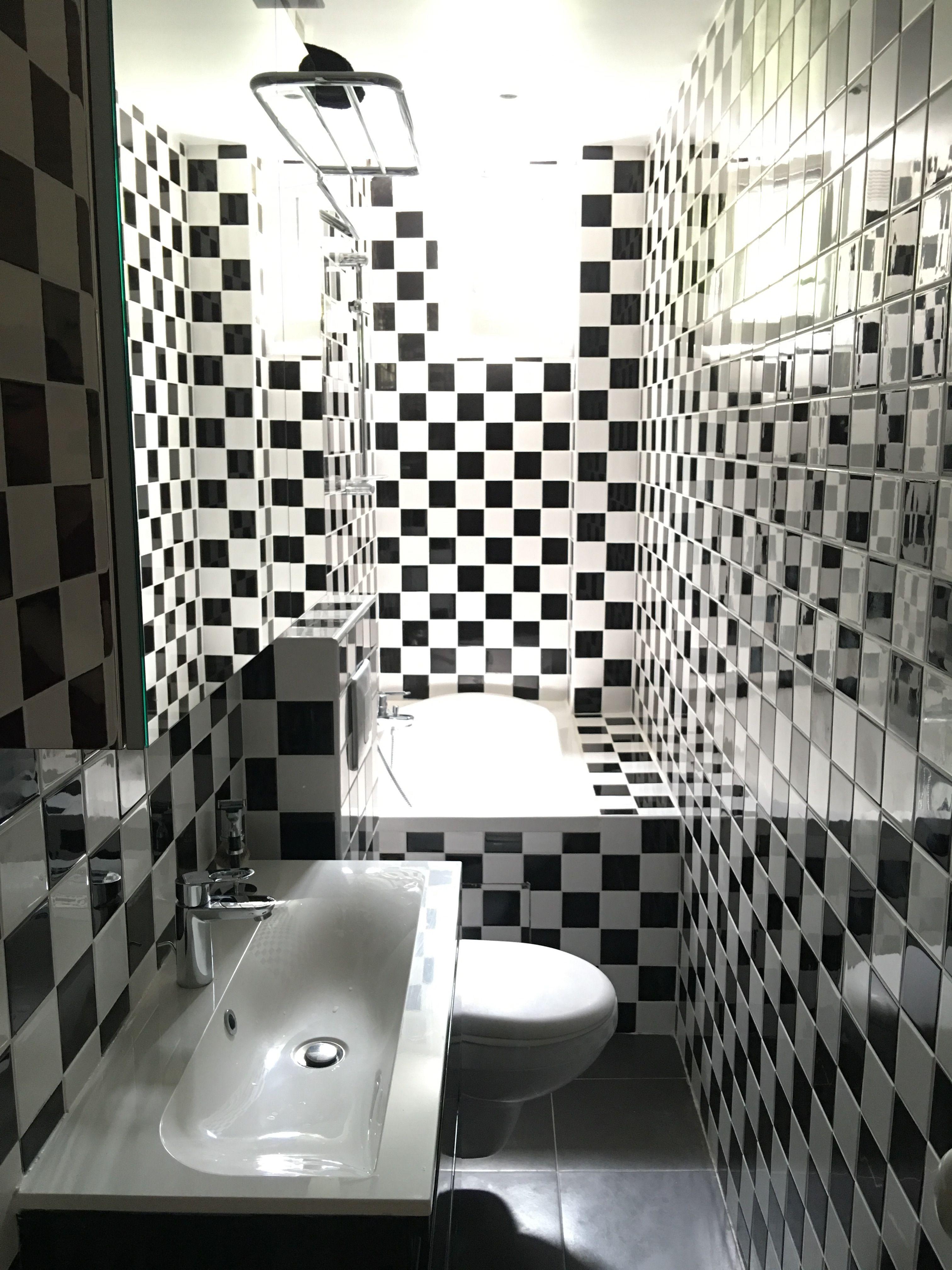 Ma salle de bain en damier  Salle de bain design, Salle de bain
