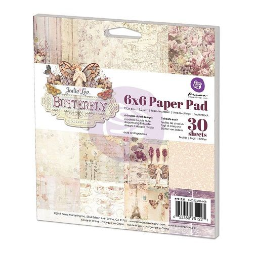 Prima Butterfly Collection 6x6, The Stamp Simply Ribbon Store