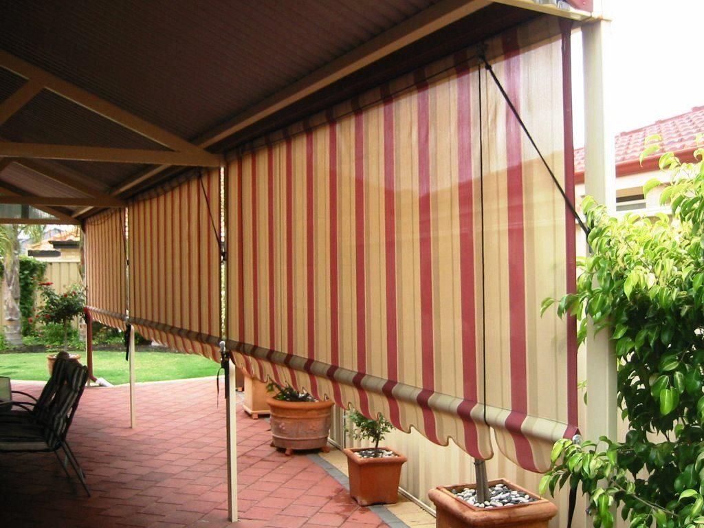 Outdoor Bamboo Curtain For Deck Great Roll Up Blinds Improvement Http