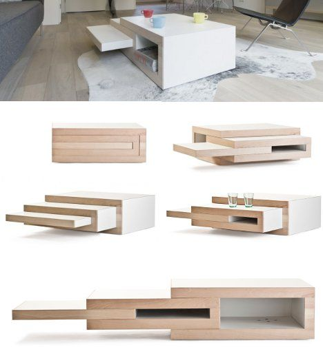 rek-expanding-coffee-table detalles Pinterest Madera, Mesas de - mesas de centro de diseo