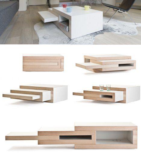 rek-expanding-coffee-table detalles Pinterest Madera, Mesas de