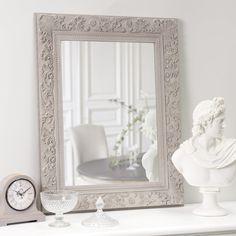 Specchio beige in paulonia 70x90 cm Specchi, Specchio