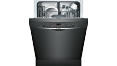 Bosch Ascenta Series Puredry 50 Decibel Front Control 24 In Built In Dishwasher Black Energy Star Lowes Com Built In Dishwasher Black Dishwasher Energy Star