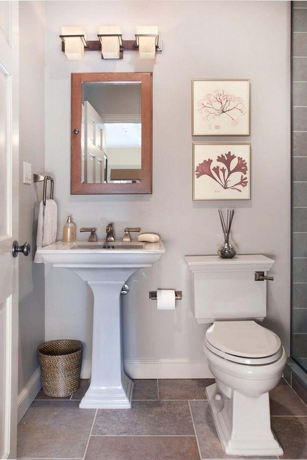 badideen-fliesen-klein - spiegel mit holzrahmen Badezimmer Pinterest