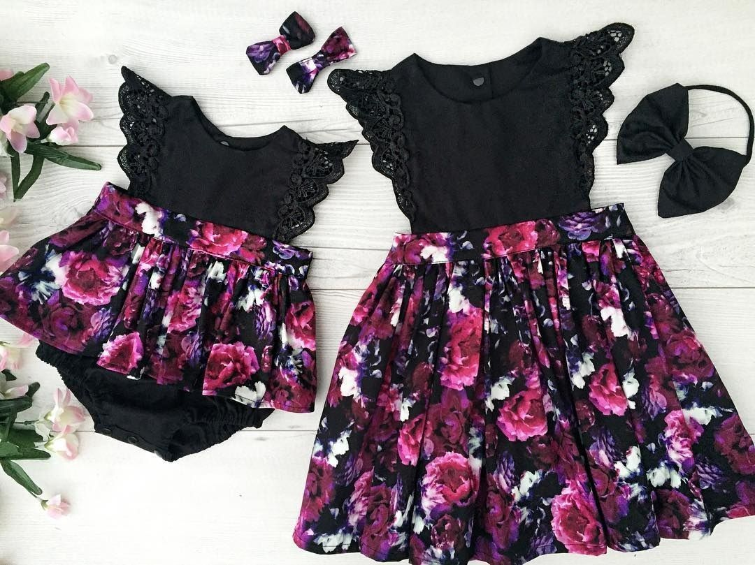 c85999e346b Toddelr Kids Baby Girls Sister Matching Floral Jumpsuit Romper Dress  Outfits Set
