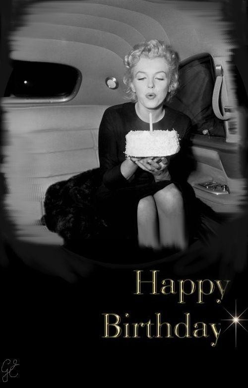 Marilyn Monroe & I wish you a happy birthday! | The BIRTHDAY Board