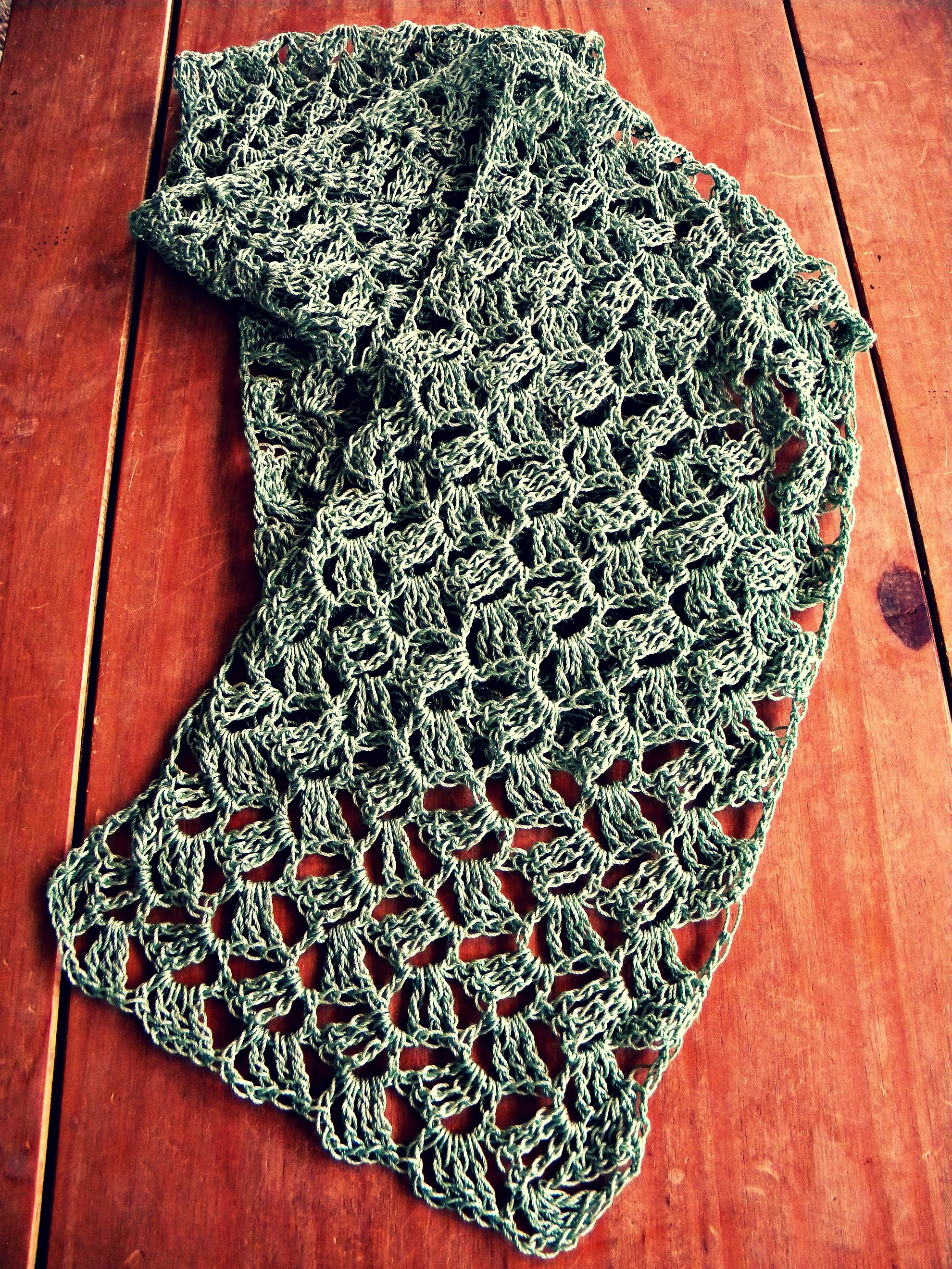 Scarf Precious Pattern On Raverly Done In Size 3 Crochet Thread