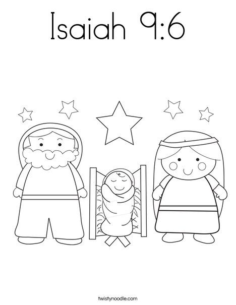 Isaiah 9 6 Coloring Page Twisty Noodle Prek Christmas Coloring