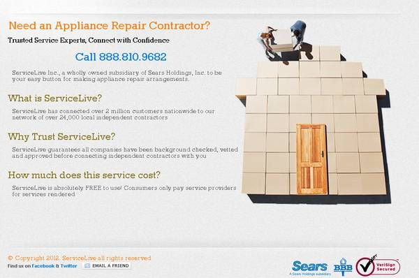 Need An Appliance Repair Contractor Servicelive 888 810 9682 Appliance Repair Repair Contractors