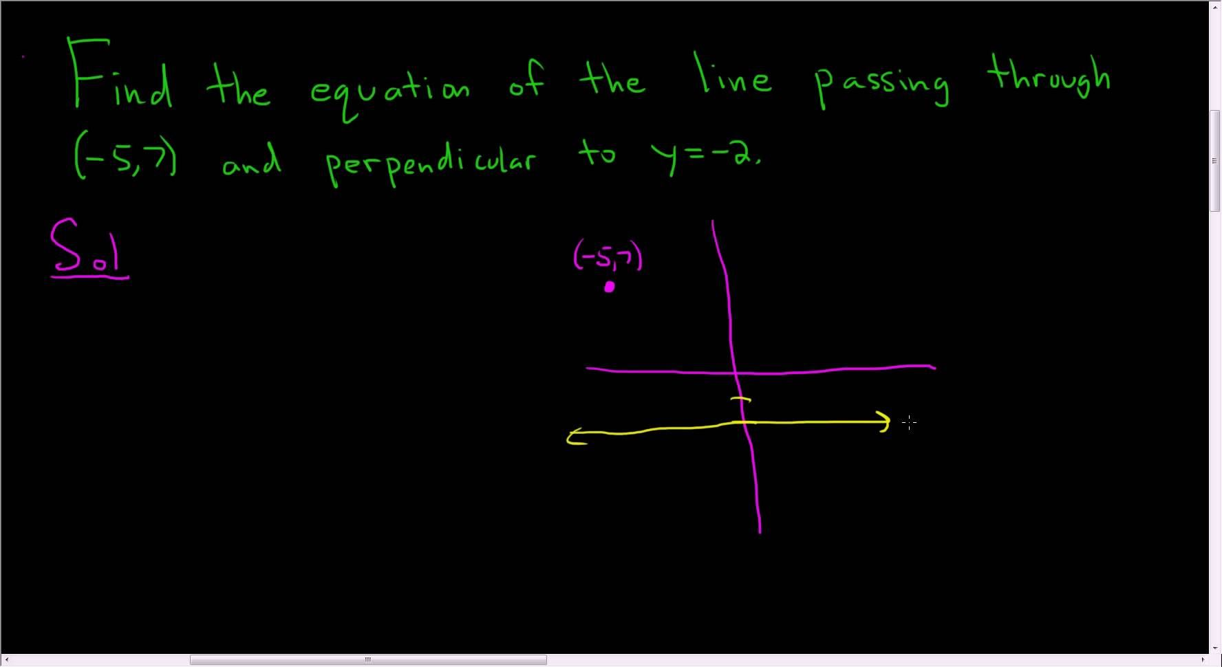 Equation Of Line Passing Through 5 7 And Perpendicular