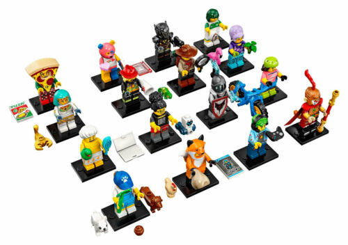LEGO Series 13 71008 Collectible Minifigures Full Set 16 Retired Sealed Hot Dog