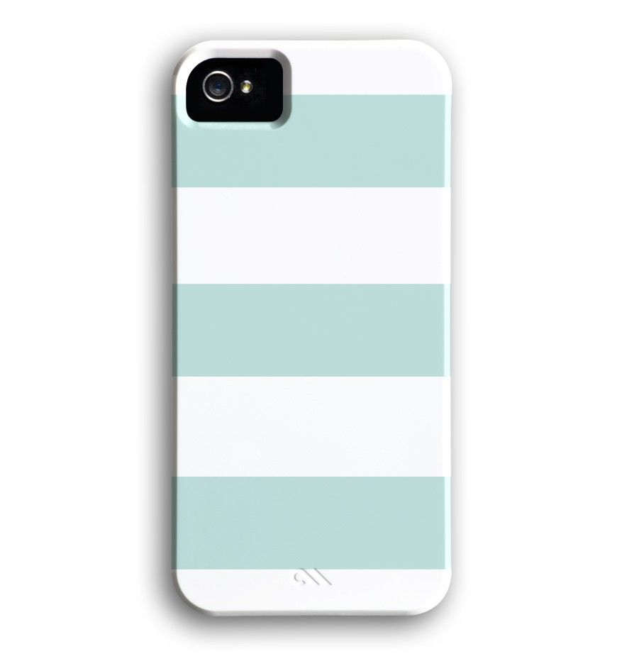 Island Blue Wide Stripe iPhone Case.