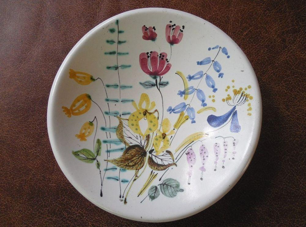 Mid-Century-Mod STIG LINDBERG Gustavsberg~Pitkanen~Faience Pottery Bowl Sweden Pottery bowls