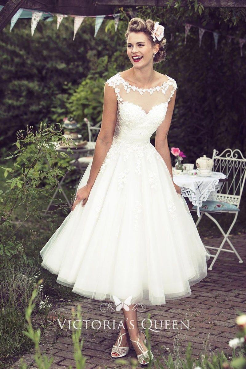 Tea Length Cap Sleeve Rustic Country Wedding Dress Short Bridal Gown Short Wedding Dress Trendy Wedding Dresses [ 1200 x 800 Pixel ]