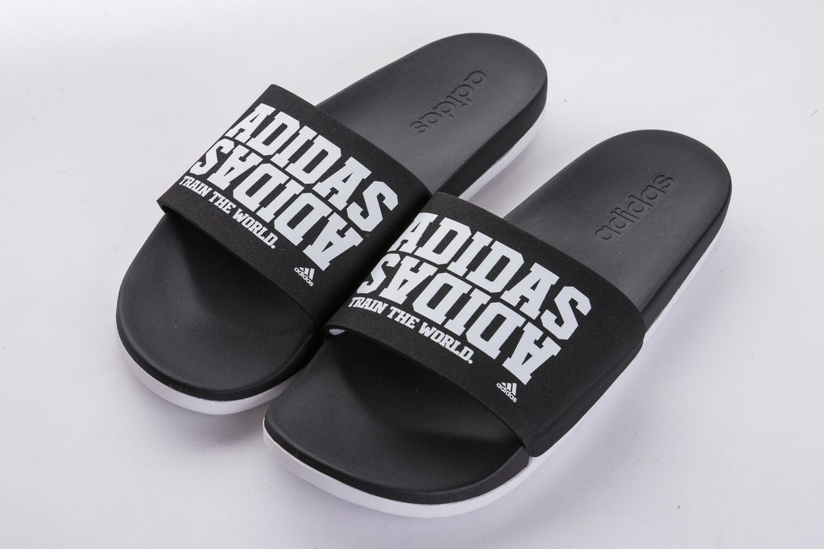 reputable site f4934 7b757 Adidas Adilette CF+ Campus BY2615 Black White Slide2