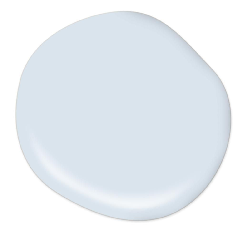 BEHR Premium Plus Ultra 5 gal. #590C-2 Ocean Air Semi-Gloss Enamel Interior Paint and Primer in One #purewhite