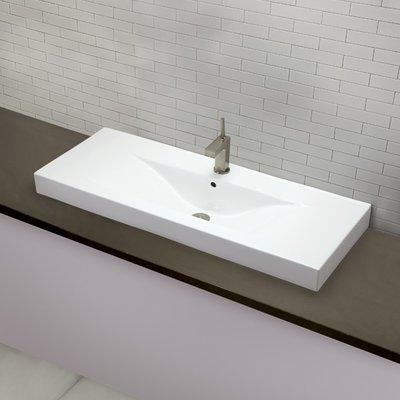 Decolav Cityview Ceramic Rectangular Vessel Bathroom Sink With