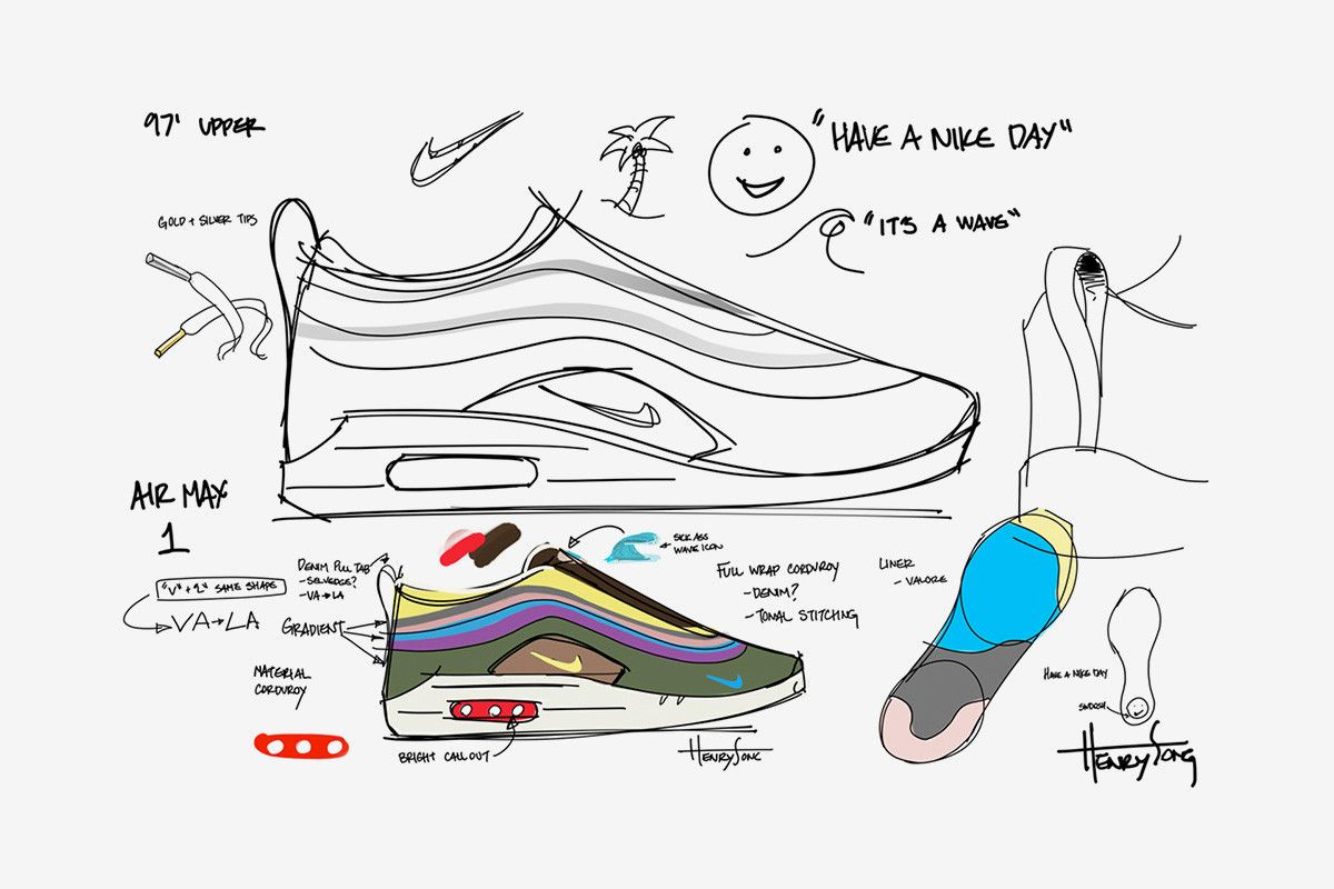 watch f0cb9 8e9b8 Sean Wotherspoon x Nike Air Max 97 1  A Closer Look at the Design