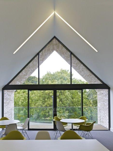 Tiny skylight slit creates interesting light Outdoor ideas