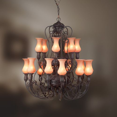 Richtree 18 Light Shaded Classic Traditional Chandelier Traditional Chandelier Candle Style Chandelier Chandelier