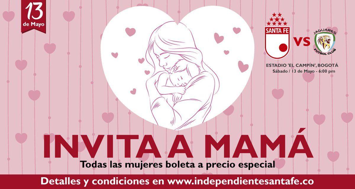 RT @SantaFe: #ElRegaloDeMamá🎁Boleta a precio especial para todas las mujeres, todas las tribunas(Excepto Lateral Sur)Detalles: https://t.co/v0khOhuOuq https://t.co/EHn3G9IODX