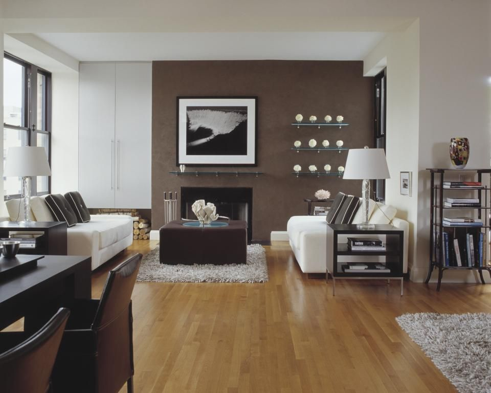 Chocolate Brown And White Colour Scheme Brown Walls Living Room Living Room Lighting Design Minimalist Living Room