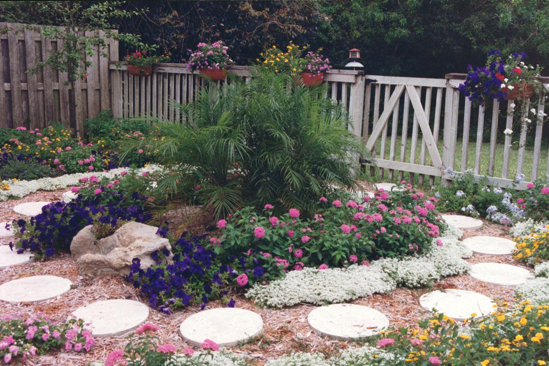 a traditional flower garden in boca raton, florida! tropicals are