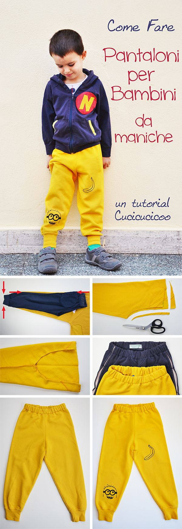 best loved 002e0 b1685 Cucire pantaloni per bambini da felpe (refashion ...