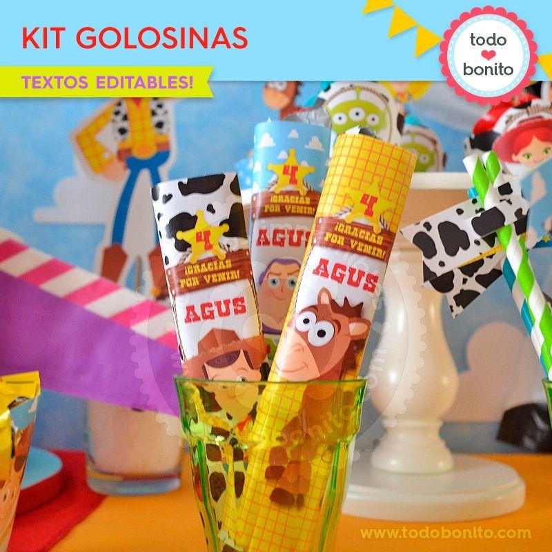 Toy Story  kit etiquetas de golosinas - Todo Bonito  da853a34a19