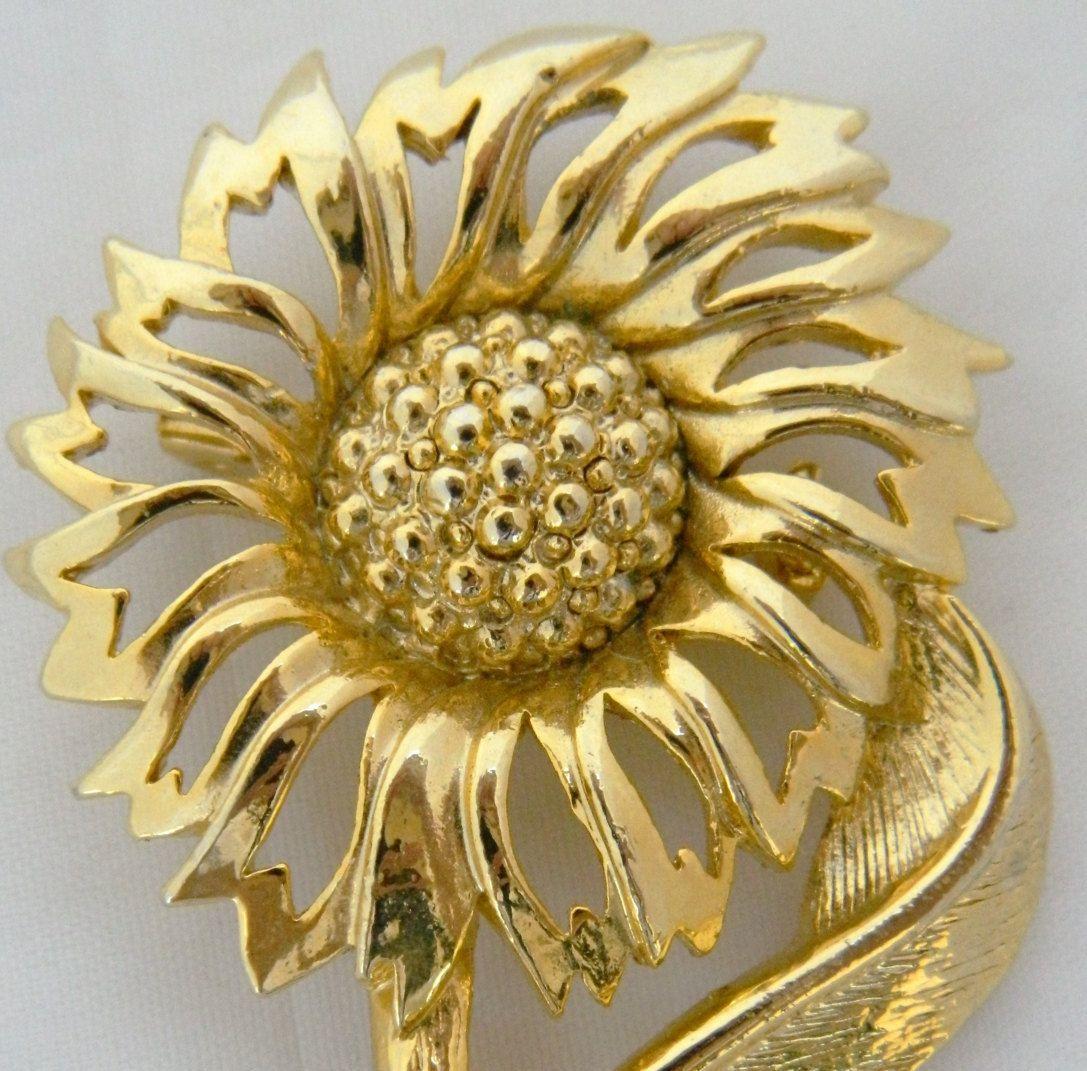 Sunflower 1960/'s Gold Tone Set