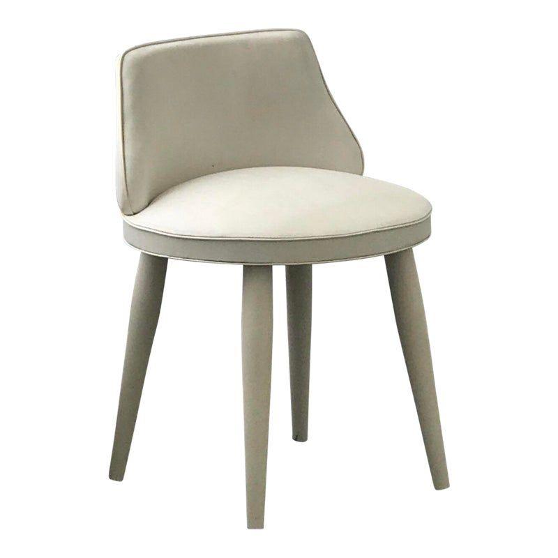 Vintage Mid Century Modern Tapered Legs Vanity Chair Mid Century