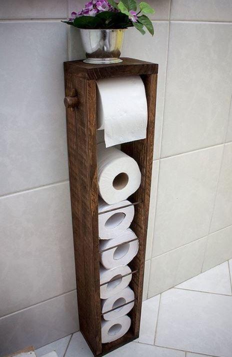 16 idées de rangement de papier toilette bricolage pour votre belle salle de bain – HomelySmart – Halle