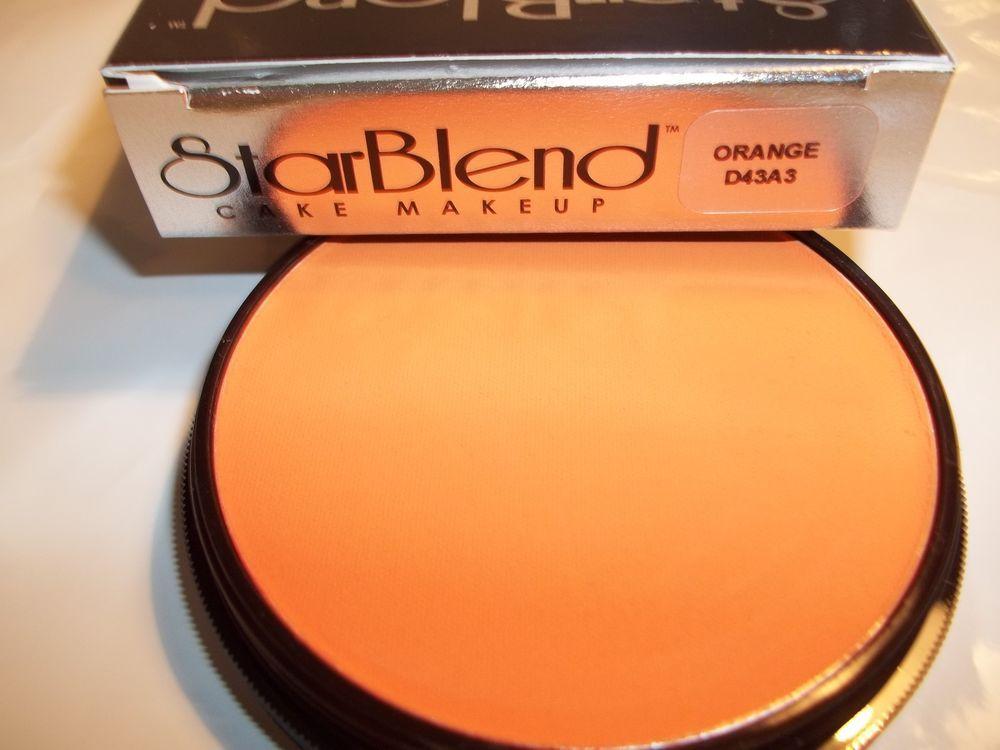Mehron Orange Star Blend Cake Pancake Water Base Stage Makeup Professional Usa Stage Makeup Mehron Professional Makeup