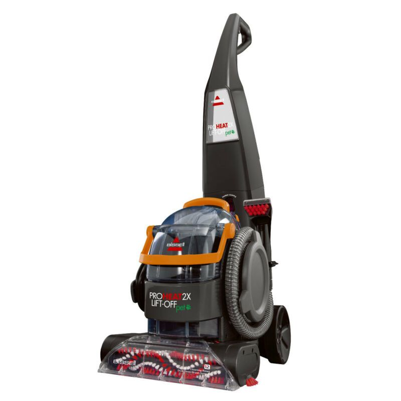 how to use bissell proheat 2x lift off pet
