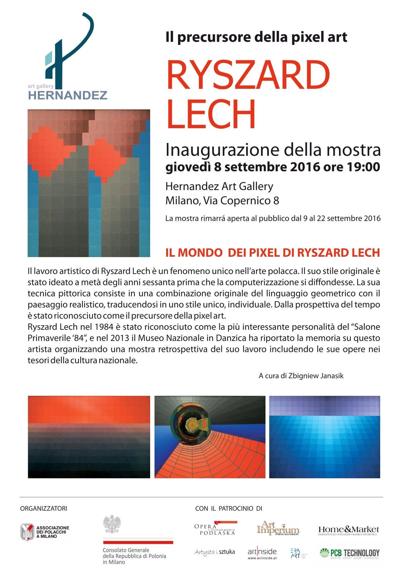 Ryszard Lech - wystawa w Mediolanie